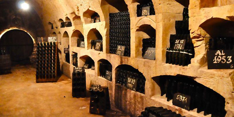 Epernay, cave de Champagne de Castellane